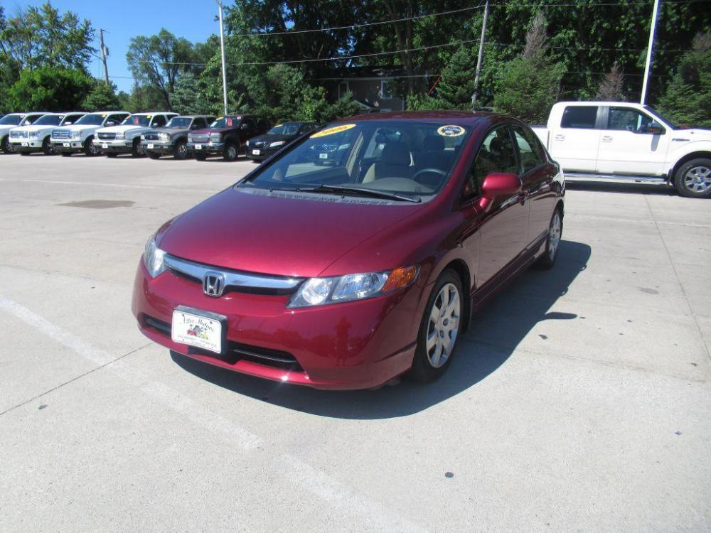 2006 RED HONDA CIVIC LX (1HGFA16576L) with an 1.8L engine, Automatic transmission, located at 908 SE 14th Street, Des Moines, IA, 50317, (515) 281-0330, 41.580303, -93.597046 - Photo #0