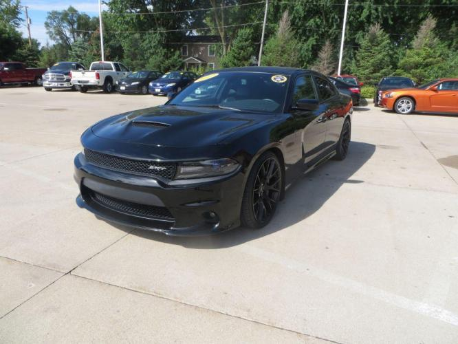 2017 BLACK DODGE CHARGER R/T 392 (2C3CDXGJ7HH) with an 6.4L engine, Automatic transmission, located at 908 SE 14th Street, Des Moines, IA, 50317, (515) 281-0330, 41.580303, -93.597046 - Photo #0