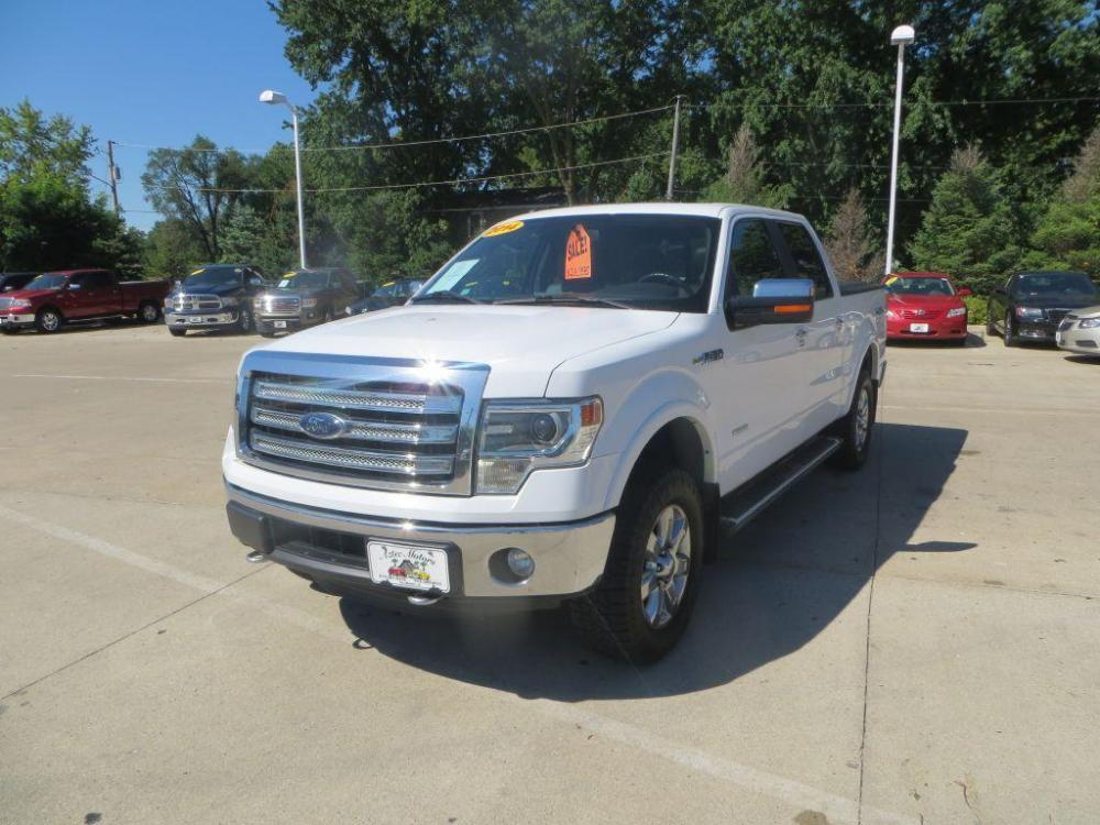 2014 WHITE FORD F150 SUPERCREW LARIAT (1FTFW1ET4EK) with an 3.5L engine, Automatic transmission, located at 908 SE 14th Street, Des Moines, IA, 50317, (515) 281-0330, 41.580303, -93.597046 - Photo #0