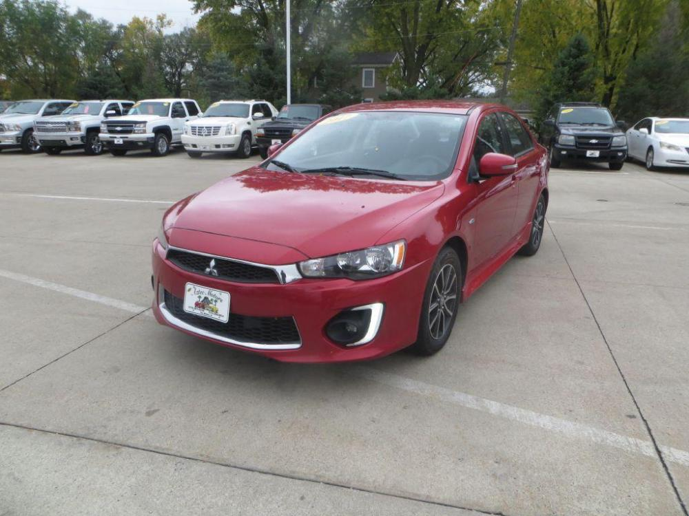 2017 RED MITSUBISHI LANCER ES (JA32U2FU1HU) with an 2.0L engine, Continuously Variable transmission, located at 908 SE 14th Street, Des Moines, IA, 50317, (515) 281-0330, 41.580303, -93.597046 - Photo #0