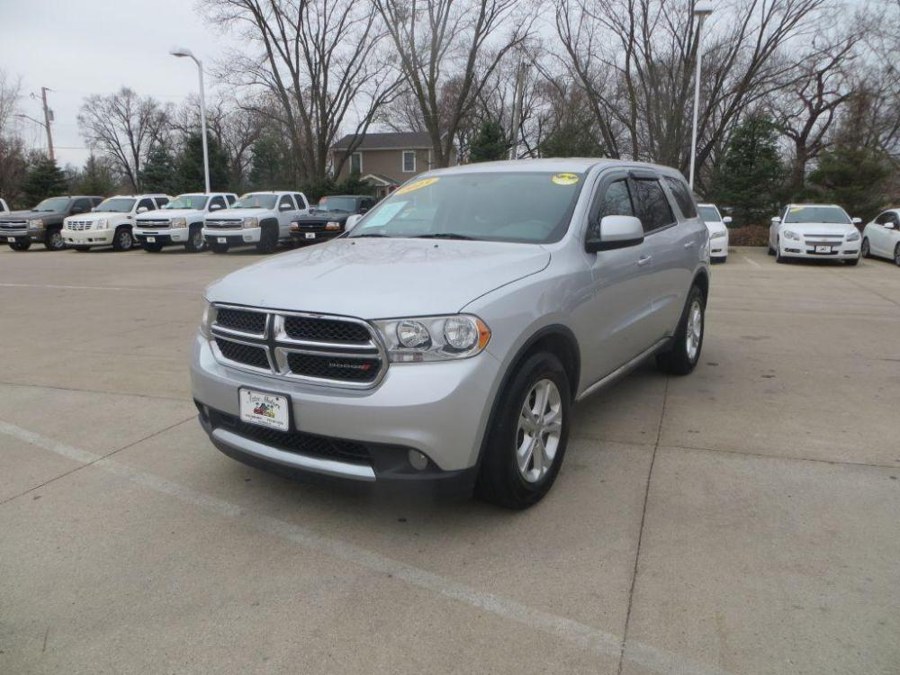 2013 SILVER DODGE DURANGO SXT (1C4RDJAG4DC) with an 3.6L engine, Automatic transmission, located at 908 SE 14th Street, Des Moines, IA, 50317, (515) 281-0330, 41.580303, -93.597046 - Photo #0
