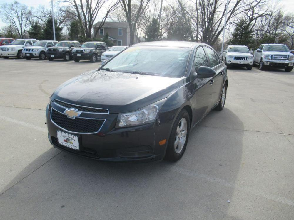2012 BLACK CHEVROLET CRUZE LT (1G1PF5SC2C7) with an 1.4L engine, Automatic transmission, located at 908 SE 14th Street, Des Moines, IA, 50317, (515) 281-0330, 41.580303, -93.597046 - Photo #0