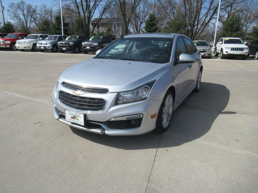 2015 SILVER CHEVROLET CRUZE LTZ (1G1PG5SB6F7) with an 1.4L engine, Automatic transmission, located at 908 SE 14th Street, Des Moines, IA, 50317, (515) 281-0330, 41.580303, -93.597046 - Photo #0